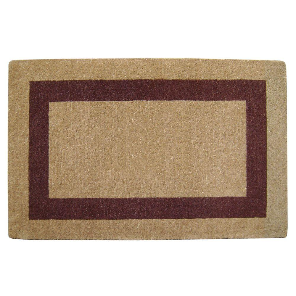 Nedia Home Single Picture Frame Brown 30 in. x 48 in. Coir Door Mat
