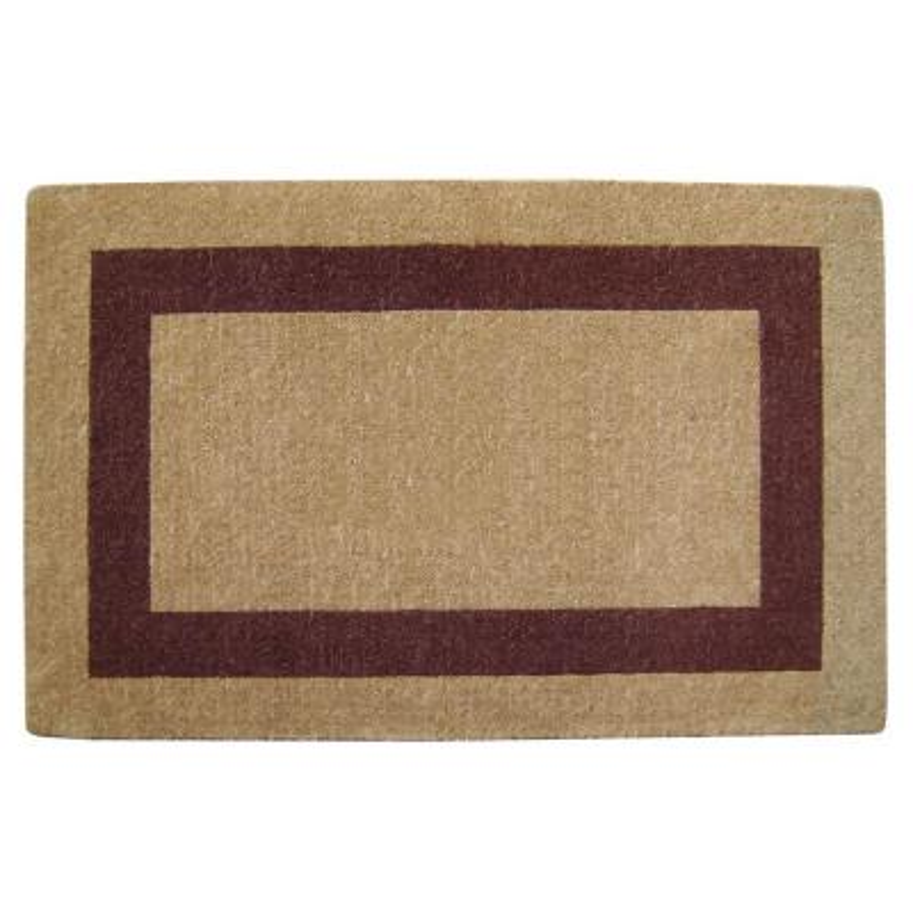 Single Picture Frame Brown 30 in. x 48 in. Coir Door Mat