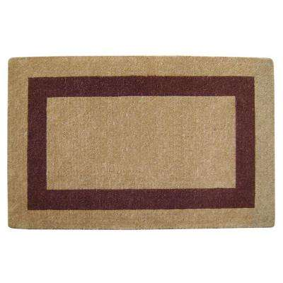 Single Picture Frame Brown 30 in. x 48 in. Coir Door Mat