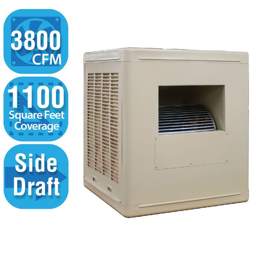 3,800 CFM Side-Draft Aspen Roof/Side Evaporative Cooler for 14 in. Ducts
