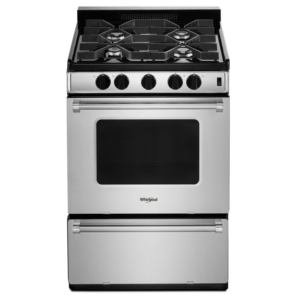 Gas Range With Sealed Burners In Stainless Steel