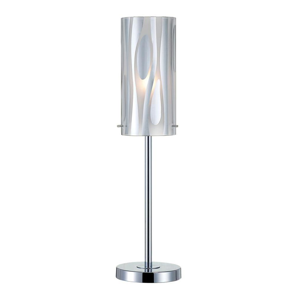 Illumine 22 in. Chrome Table Lamp