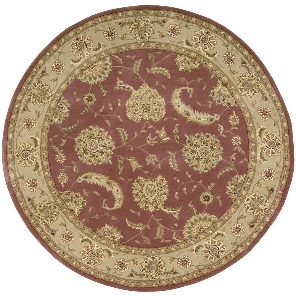 Nourison 2000 Rose 6 Ft. X 6 Ft. Round Area Rug-040817