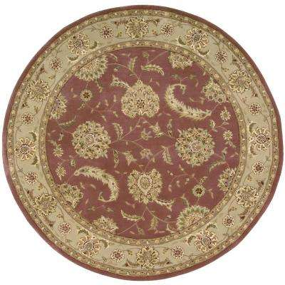 2000 Rose 6 ft. x 6 ft. Round Area Rug