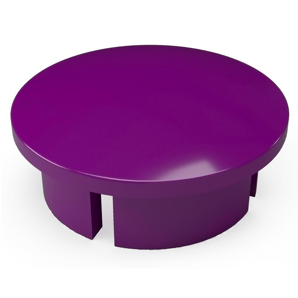 1 in. Furniture Grade PVC Internal Dome Cap in Purple (10-Pack)