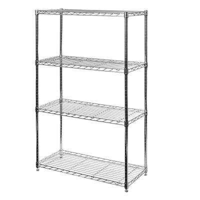 36 in W x 14 in D x 54 in H Steel 4-Tier Wire Shelving