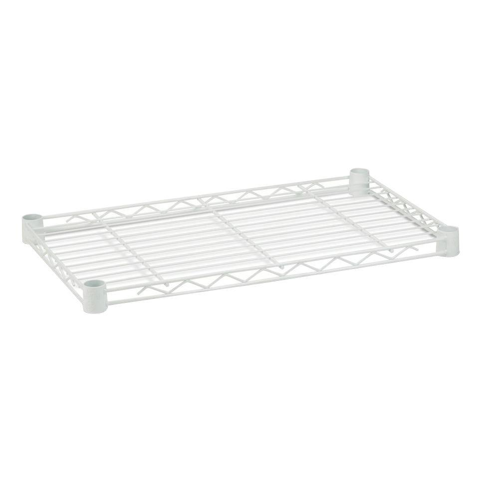 Honey-Can-Do 1 in. H x 24 in. W x 14 in. D 250 lbs. Capacity Freestanding Steel Shelf in White