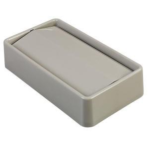 Carlisle TrimLine 15 Gal. and 23 Gal. Beige Trash Can Swing Lid (4-Pack) by Carlisle