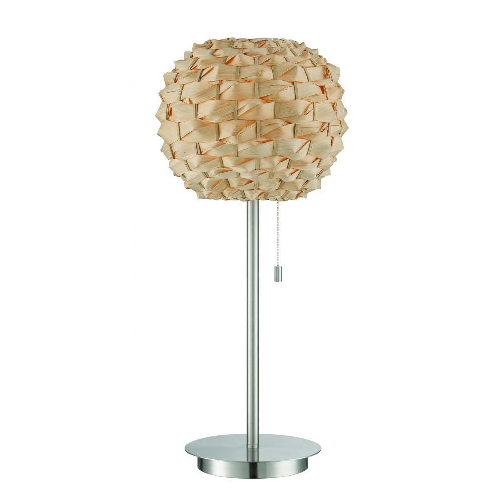 27 in. Polished Steel Table Lamp