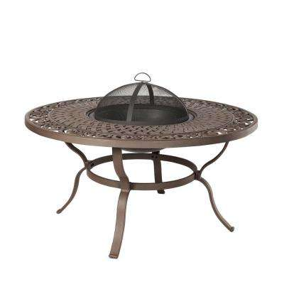Florence 23 in. Wood Fire Table in Brown