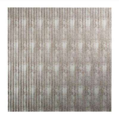 Rib - 2 ft. x 2 ft. Lay-in Ceiling Tile in Crosshatch Silver