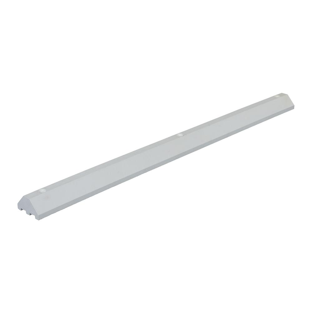 72 in. Recycled White Plastic Car Stop