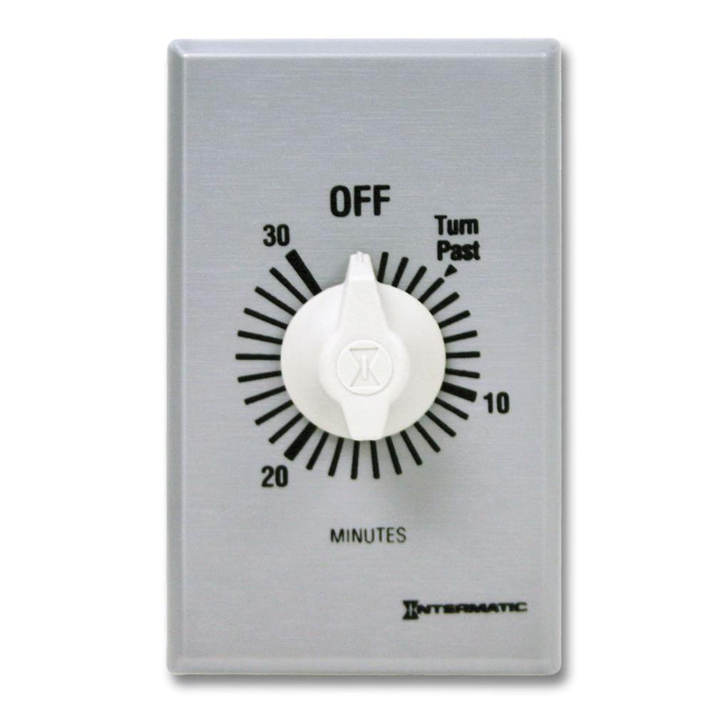 FF Series 10 Amp 30-Minute Commercial Auto-Off In-Wall Dial Timer, Gray