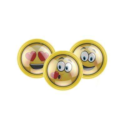 3.5 in. LED Battery Powered Emoji Puck Light (3-Pack)