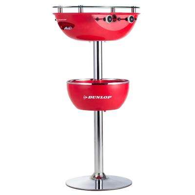 2 in. 1 Foosball Table With Glass Top Built in 2-Cup Holders and Ice Bucket