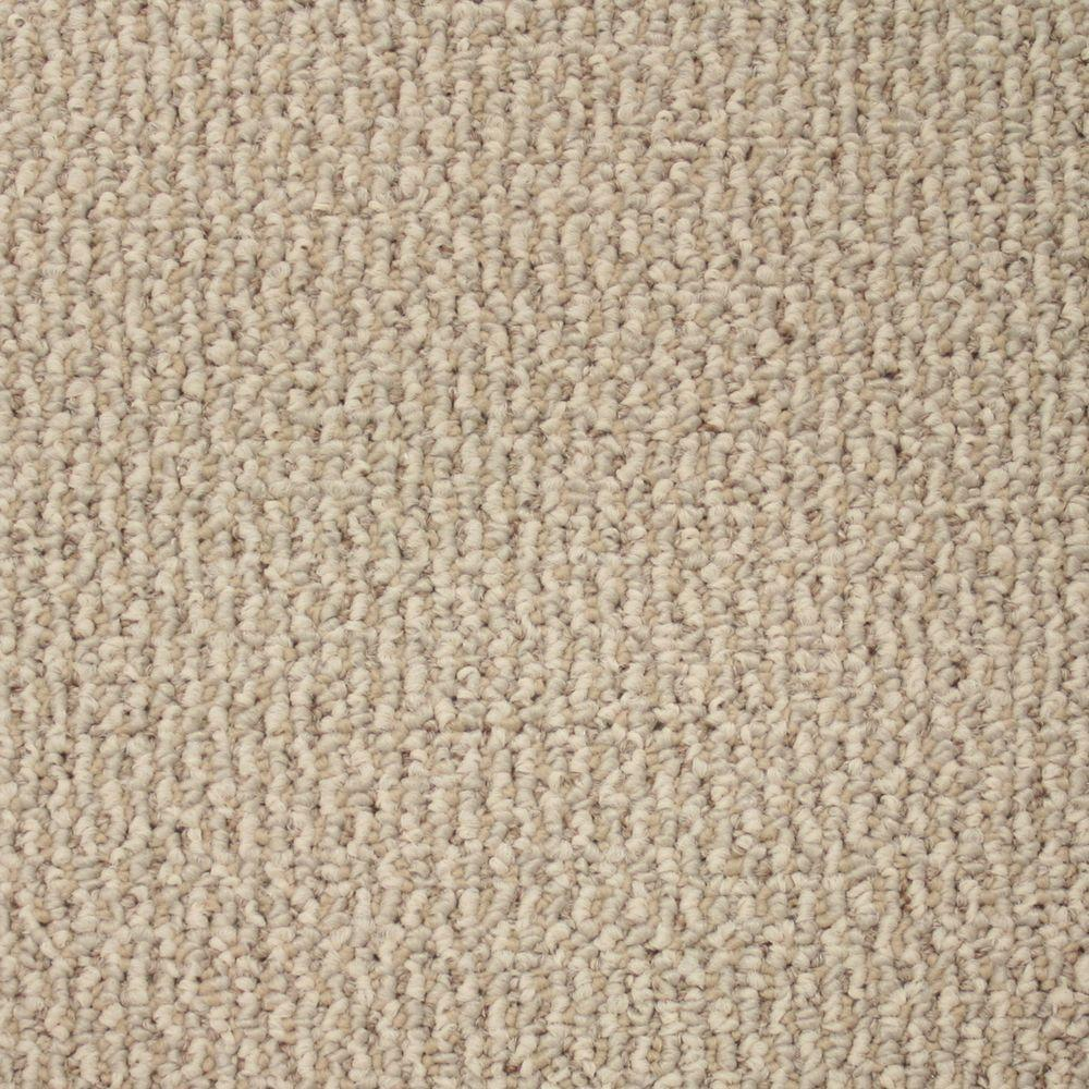 Trafficmaster Skill Set Color Ivory Berber 12 Ft Carpet