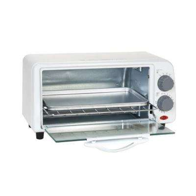 Platinum 2-Slice White Toaster Oven