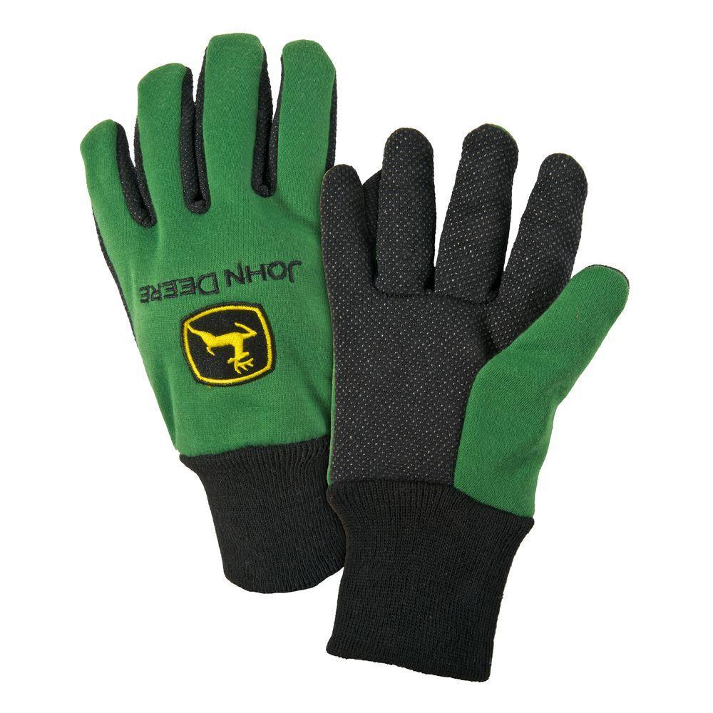 Cotton Jersey Large Light-Duty Grip Gloves