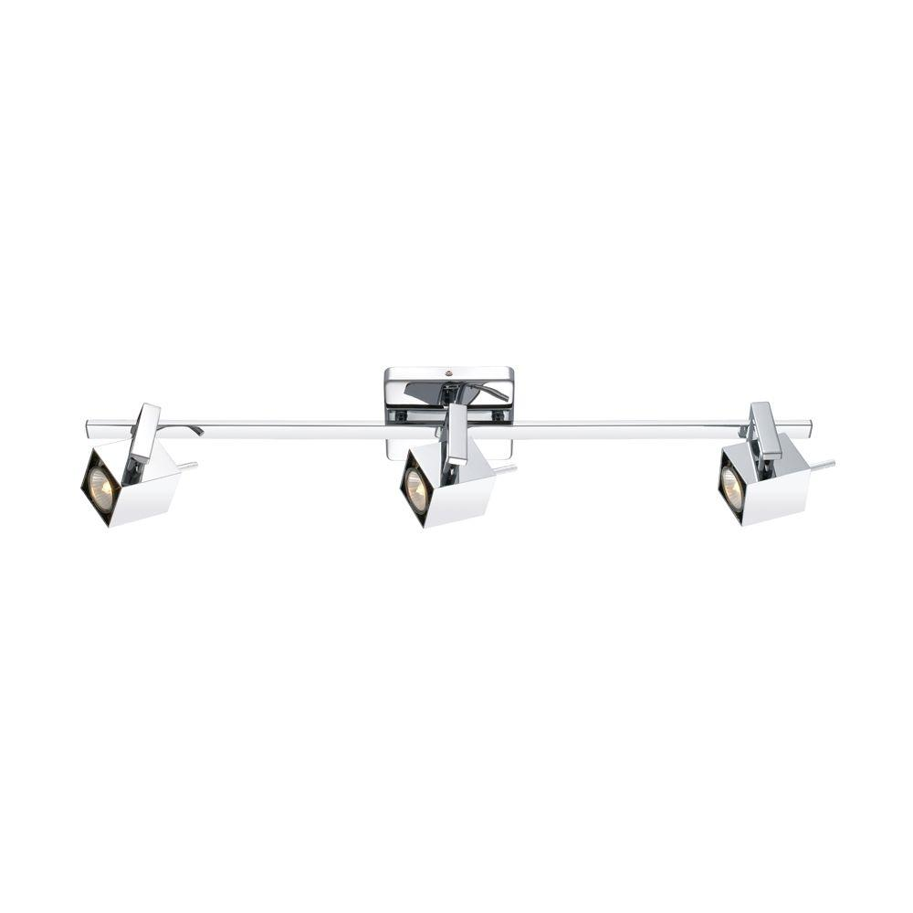 Chrome And Black Track Lighting: EGLO Manao 3-Light Chrome Track Light-90524A