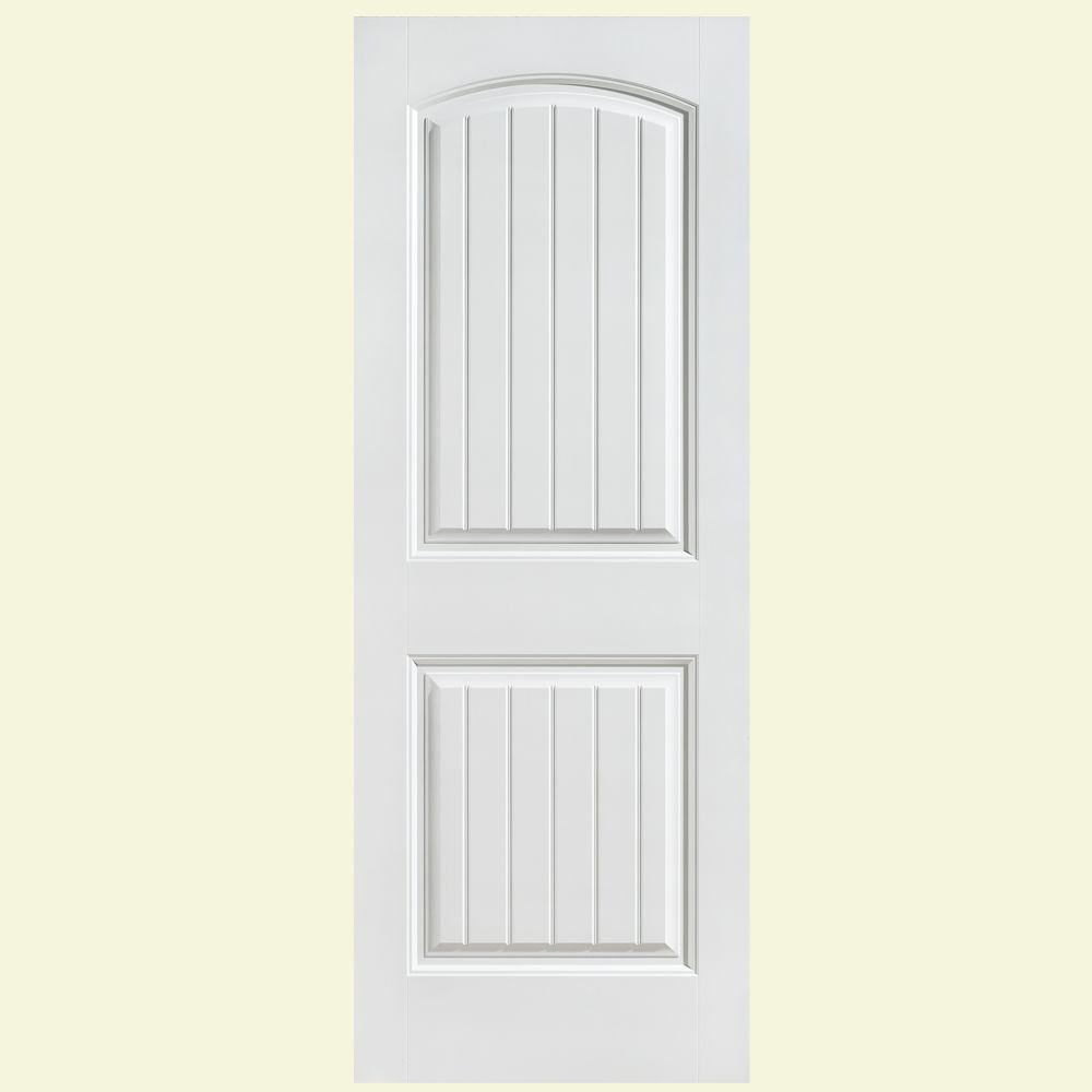 Masonite 36 in x 80 in cheyenne smooth 2 panel camber for Double pocket door home depot