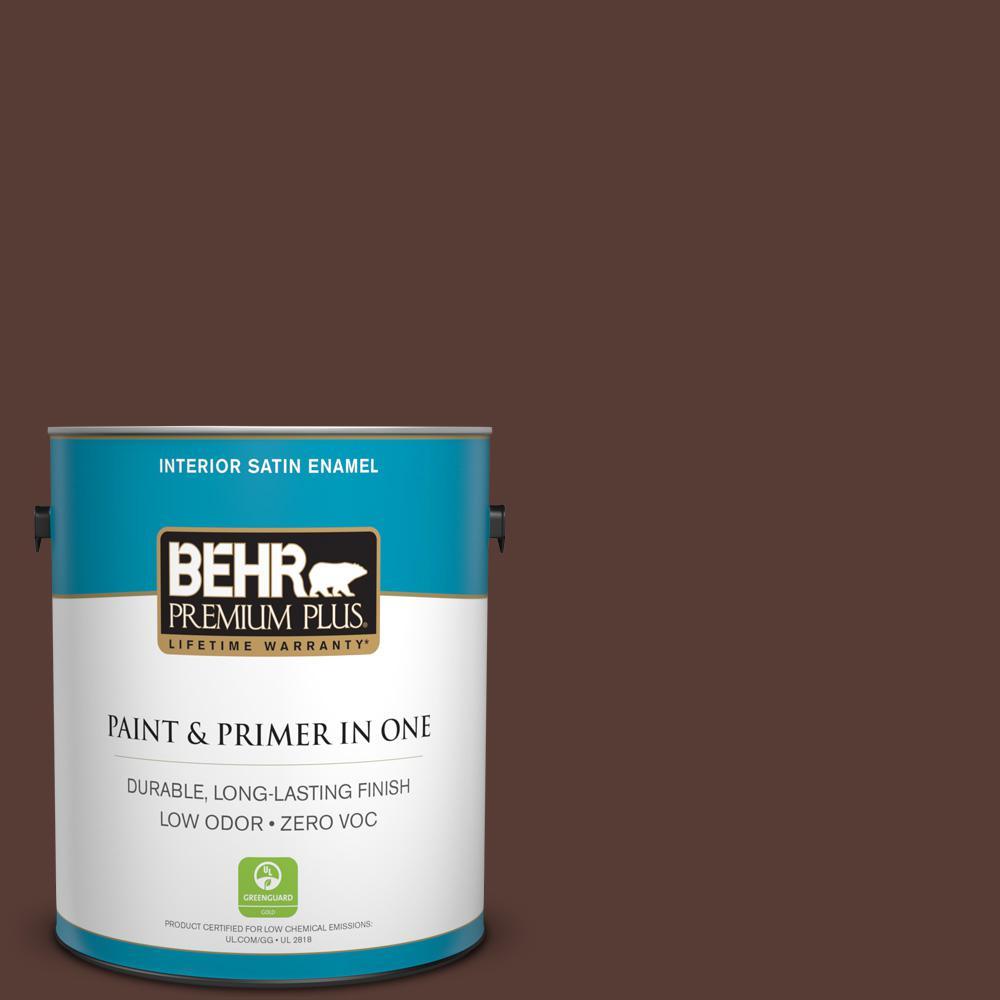 1 gal. #PPU1-02 Divine Wine Zero VOC Satin Enamel Interior Paint