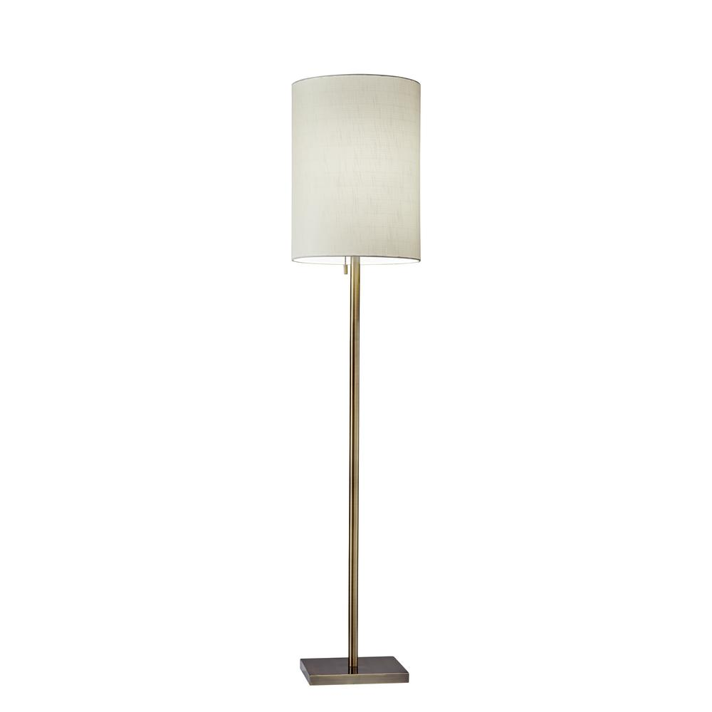Liam 60.5 in. Antique Brass Floor Lamp