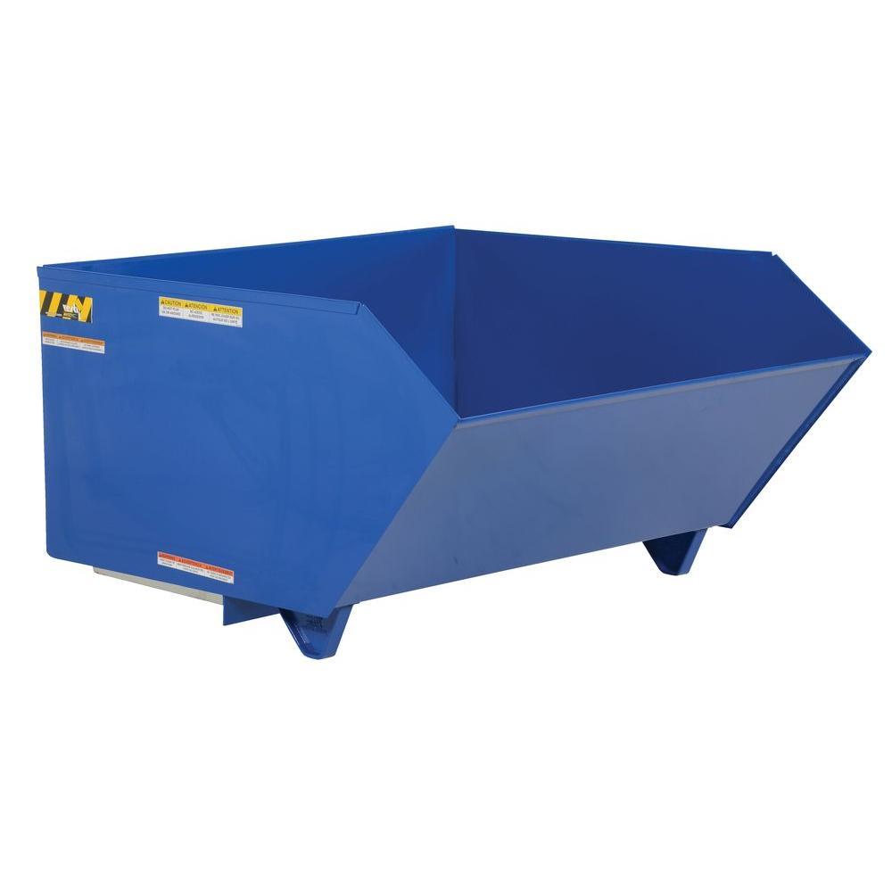 Portable Self Dumping Hoppers : Vestil cu yd light duty self dumping hopper h ld