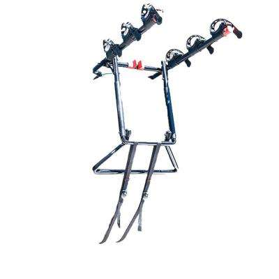 Over the Spare Tire Premier 3-Bike Hitch Bike Rack with Folding Arms in Black