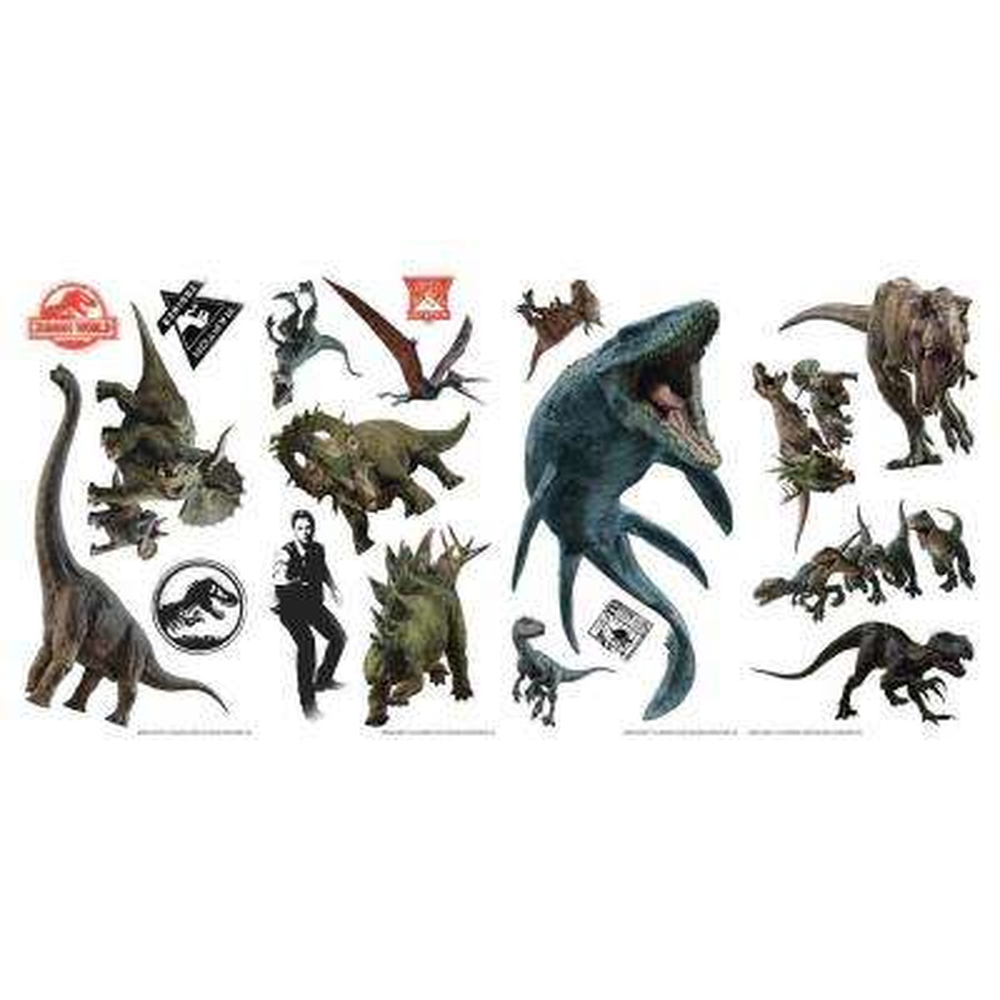 Jurassic World Fallen Kingdom Multi Peel and Stick Wall Decal (Set of 19)