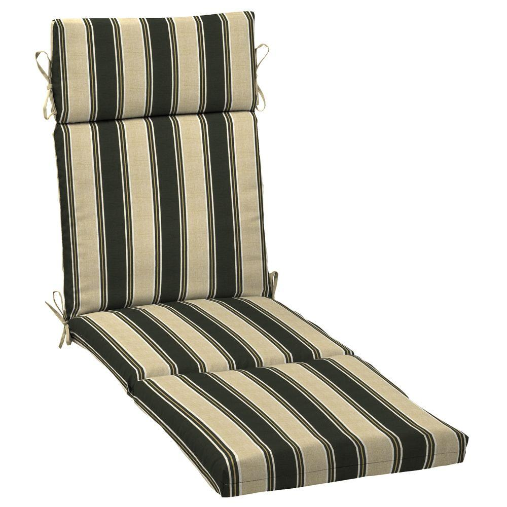 Arden Twilight Stripe Chaise Outdoor Cushion-DISCONTINUED