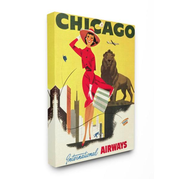 The Stupell Home Decor Collection 16 In X 20 Vintage Chicago Airways