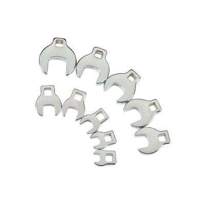 3/8 in. Drive 10-24 mm Crowfoot Wrench Set (10-Piece)