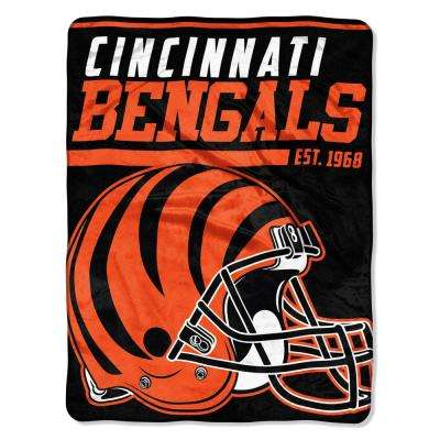 Bengals Multi Color Polyester 40-Yard Dash Micro Raschel Throw