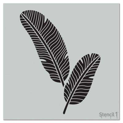 Banana Leaves Repeat Pattern Stencil
