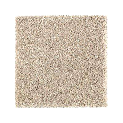 Carpet Sample - Whirlwind II - Color Dry Gourd Texture 8 in. x 8 in.