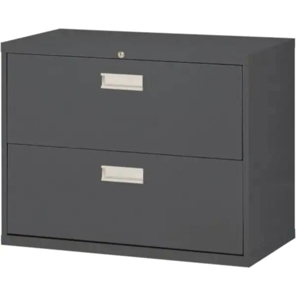W 2 Drawer Lateral File Cabinet In Charcoal