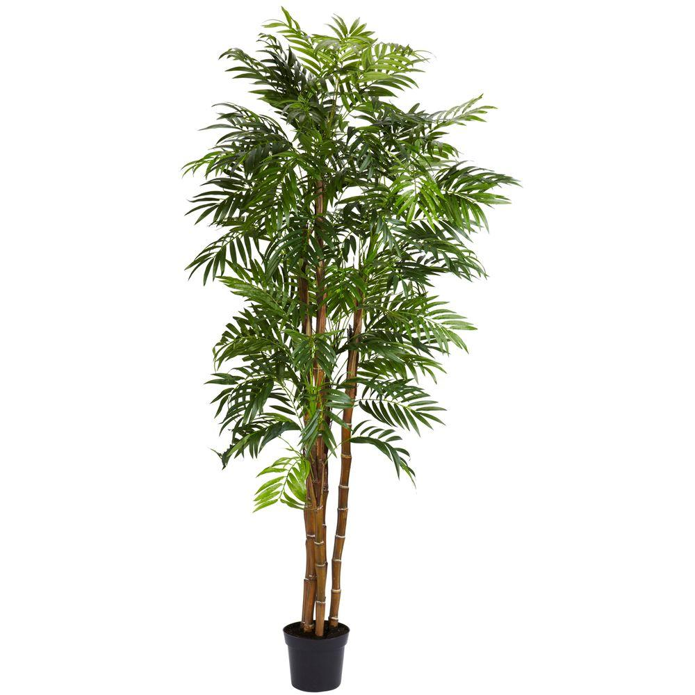 Nearly Natural 6 ft. Green Bella Palm Silk Tree