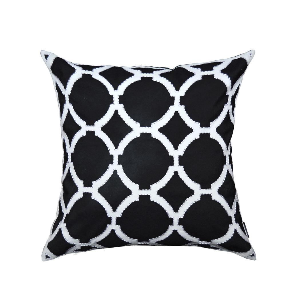 A1hc Black And White Geometric Pattern Decorative Pillow A1bw017