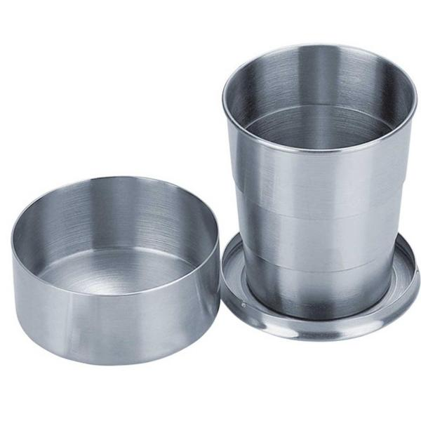 Scope 5 oz. Stainless Steel Folding Shot Cup (Set of 2)