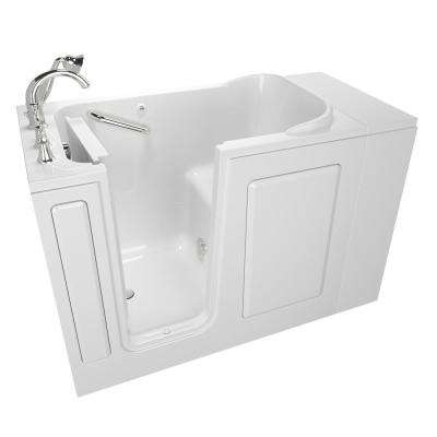 Exclusive Series 48 in. x 28 in. Left Hand Walk-In Soaking Tub with Quick Drain in White