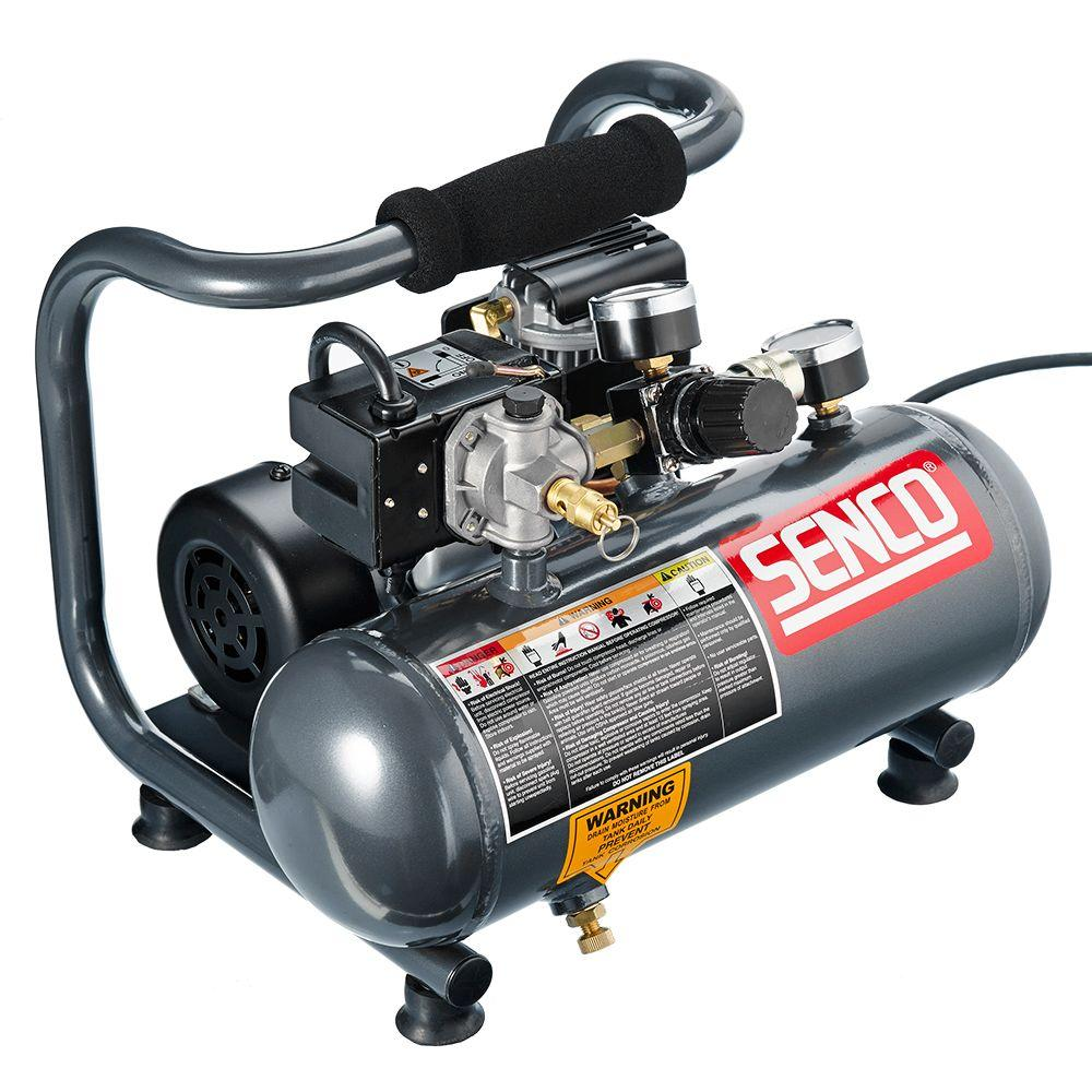 Senco PC1010 1-Horsepower Peak 1//2 hp running 1-Gallon Compressor