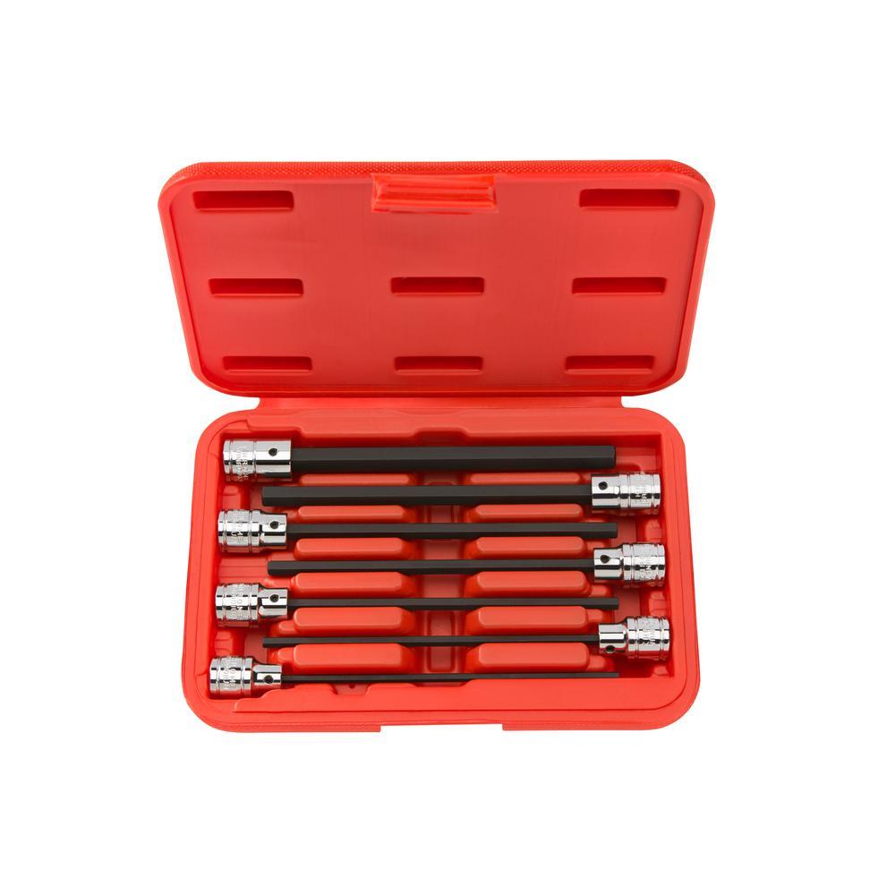 3/8 in. Drive 3-10 mm Extra Long Hex Bit Socket Set (7-Piece)