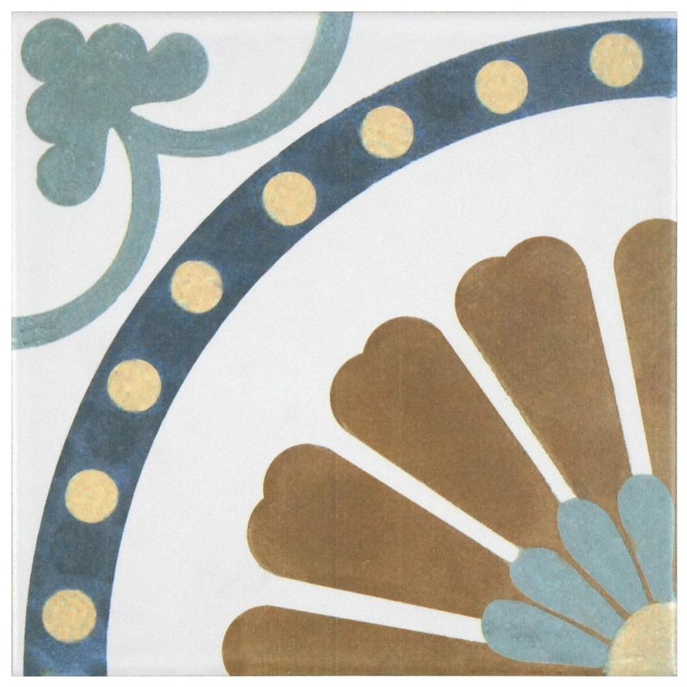 Merola Tile Revival Ring 7-3/4 in. x 7-3/4 in. Ceramic Floor and Wall Tile