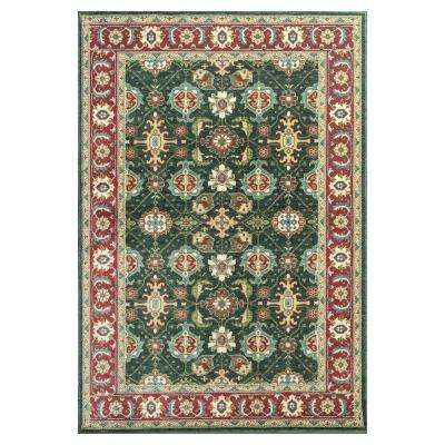 Antiqued Mahal Emerald/Red 5 ft. 3 in. x 7 ft. 7 in. Area Rug