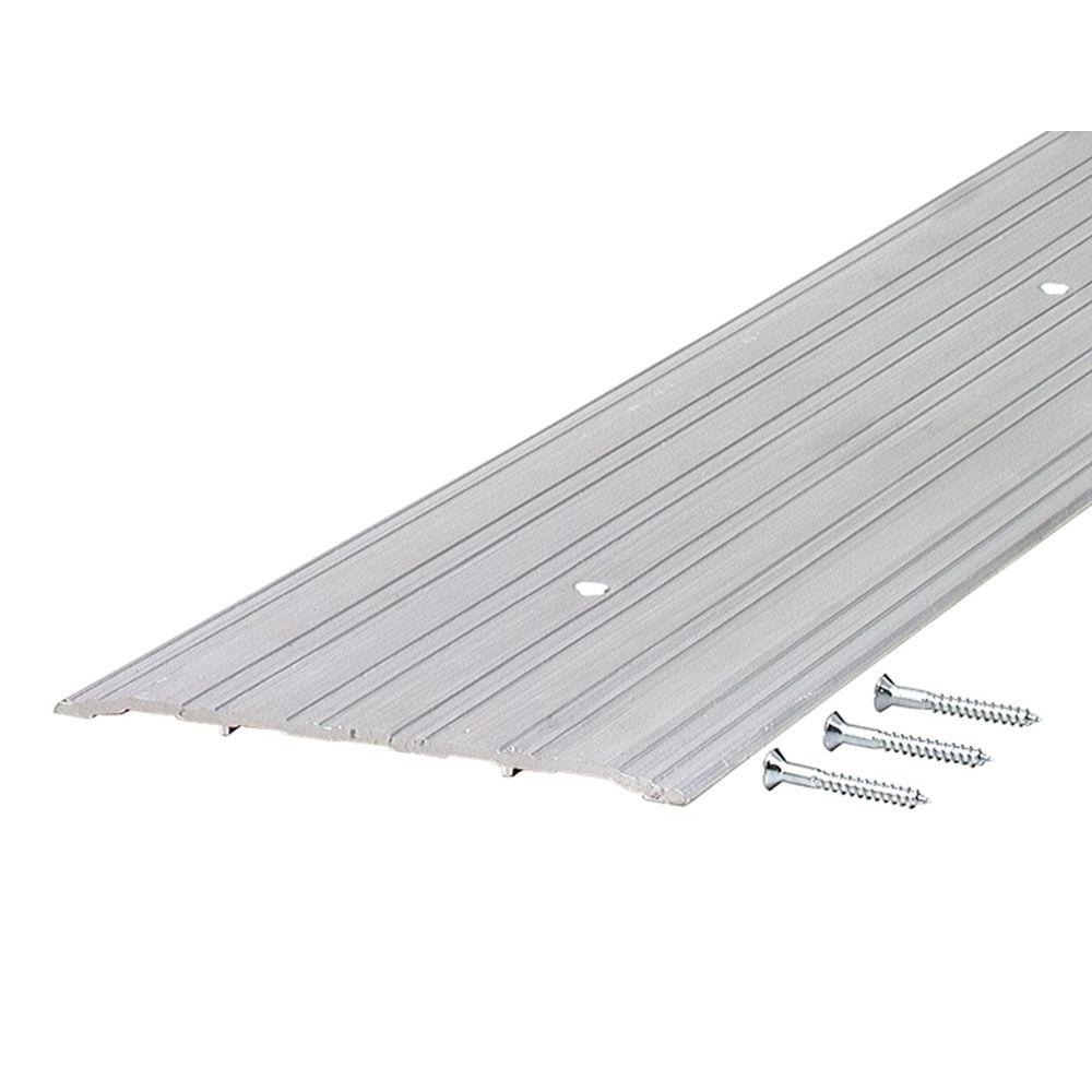 M-D Building Products TH043 0.25 in. x 6 in. 36 in. Fluted Saddle Mill Threshold This heavy duty aluminum threshold is designed for use in commercial applications. The low profile non-skid design is recommended and approved for wheelchair access. You can help make your home more comfortable and saves energy with MD Building Products. Color: Mill.