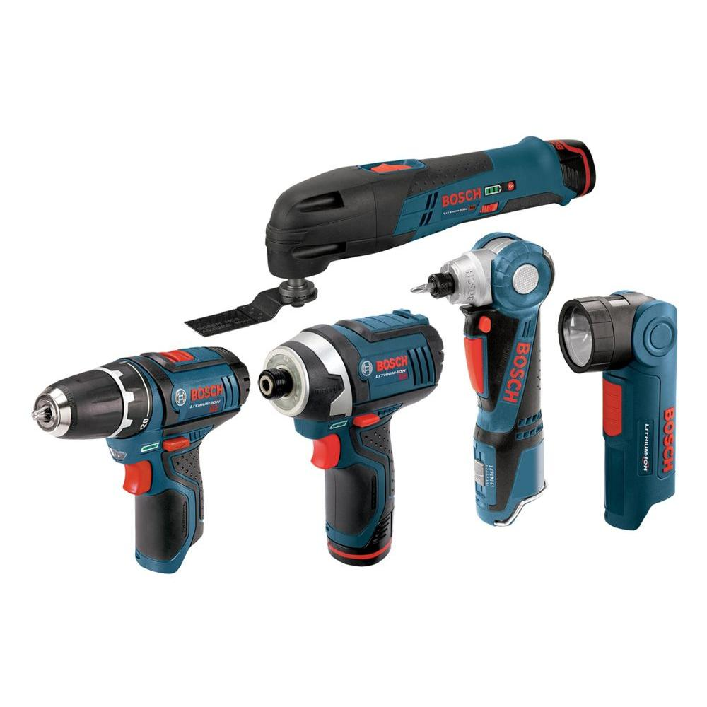 Bosch 12-Volt Max Lithium-Ion Combo Kit (5-Tool)