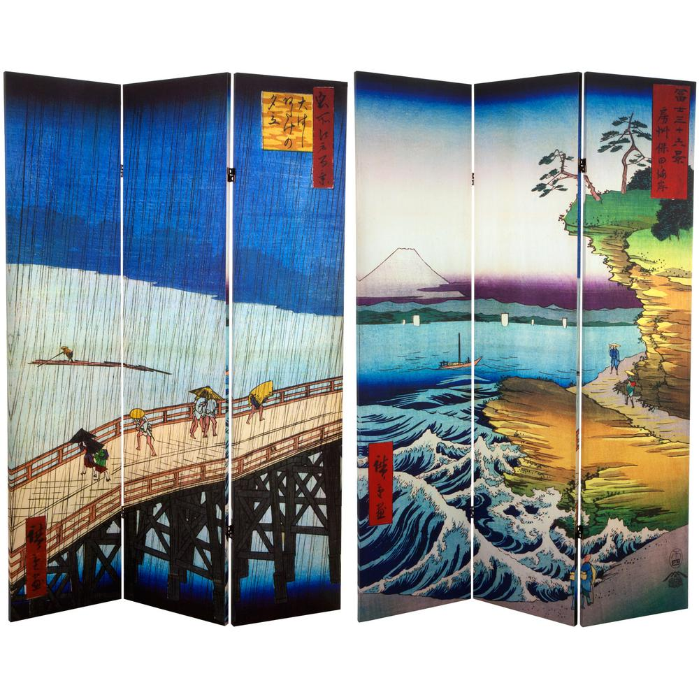 6 ft Printed 3 Panel Room Divider CAN HIRO 3 The Home Depot
