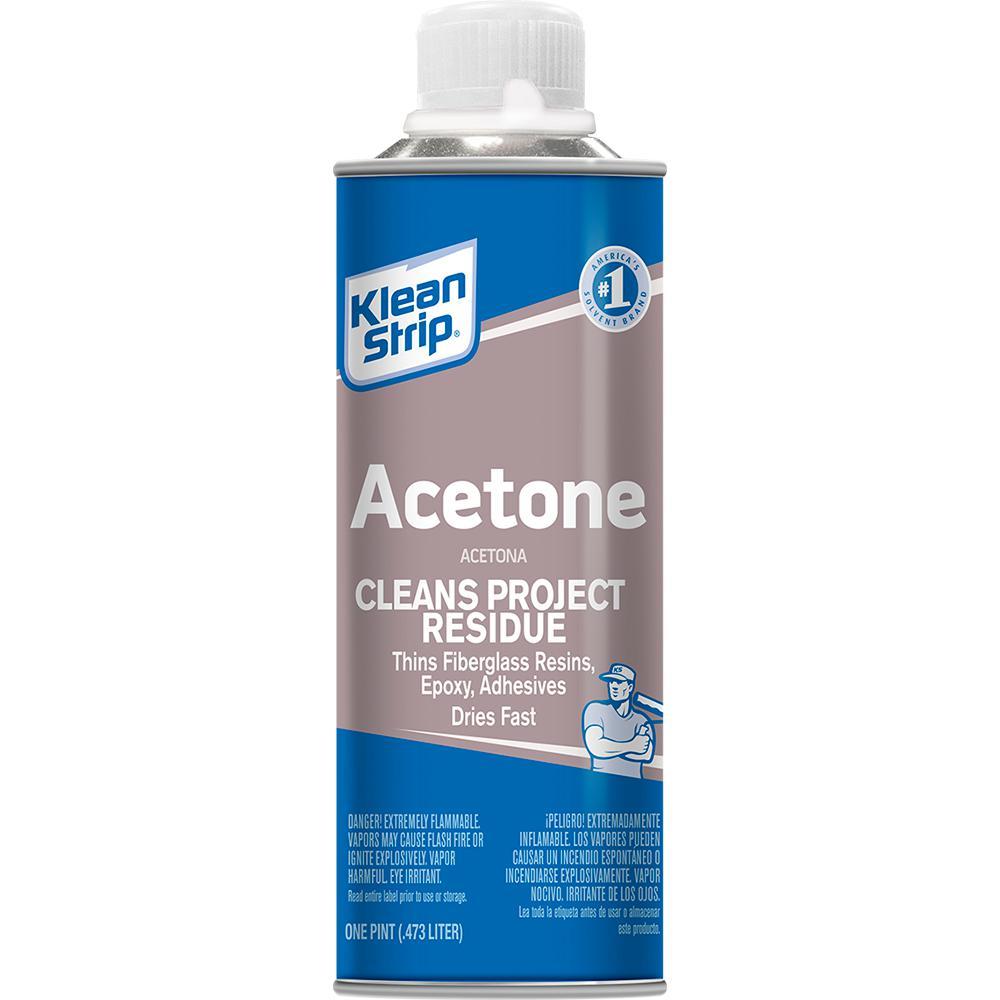 Klean Strip 16oz Acetone Pac181 The Home Depot