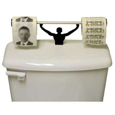 Obama Ahole Toilet Paper in Multi-Color with Strong Man Holder Obamacare Gift Set