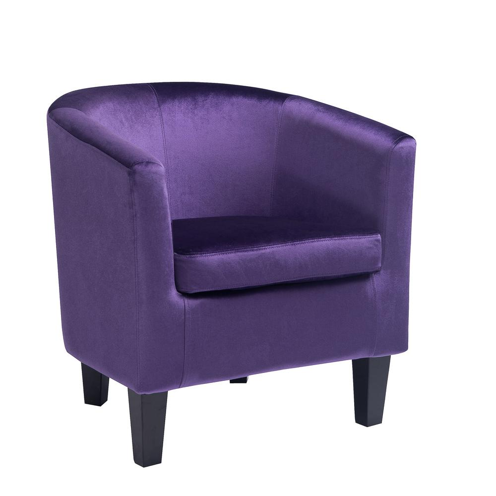 CorLiving Antonio Purple Velvet Tub Chair-LAD-758-C - The Home Depot